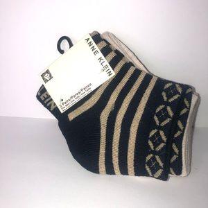 Anne Klein Women's 3 pair pac ankle socks